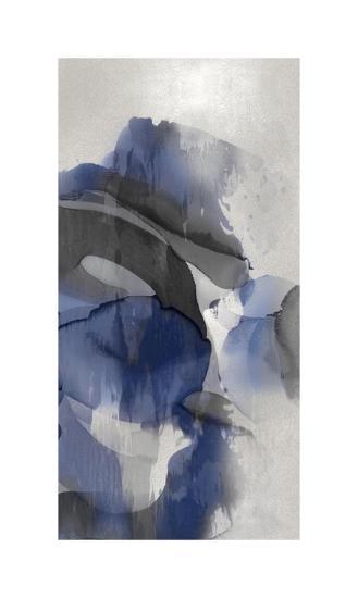 Cascade Indigo Triptych III-Kristina Jett-Giclee Print