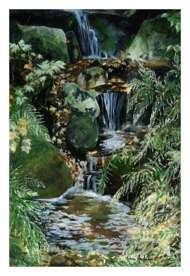 Cascades en sous-bois-Sylvia Audet-Art Print
