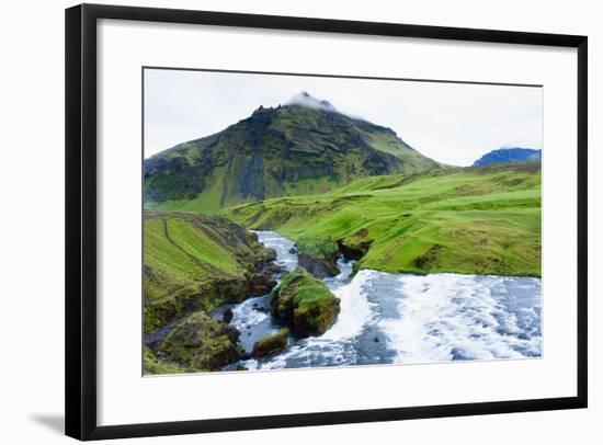Cascades in the Skogaheidi-Catharina Lux-Framed Photographic Print