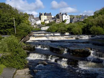 Cascades of Ennistymon in County Clare-Chris Hill-Photographic Print