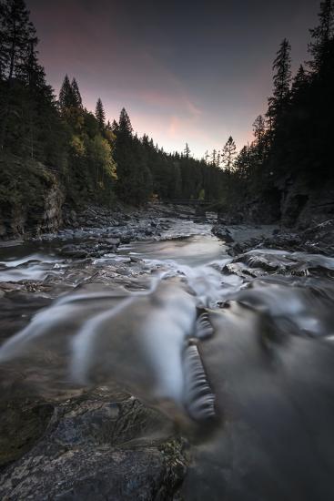 Cascading Mcdonald Creek in Montana's Glacier National Park-Keith Ladzinski-Photographic Print