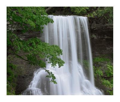 Cascading waterfall in Jefferson National Forest, Virginia-Tim Fitzharris-Art Print