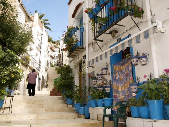 Casco Antiguo, Santa Cruz Quarter, Alicante, Valencia Province, Spain, Europe-Guy Thouvenin-Photographic Print