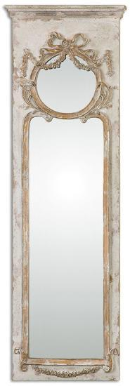 Casella Antiqued Ivory Wall Mirror--Wall Mirror