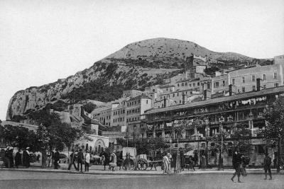 Casemates Square, Gibraltar, Early 20th Century-VB Cumbo-Giclee Print