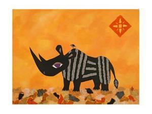 Rhino with Summer Sky by Casey Craig