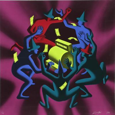 Cash Dance-Mark Kostabi-Limited Edition