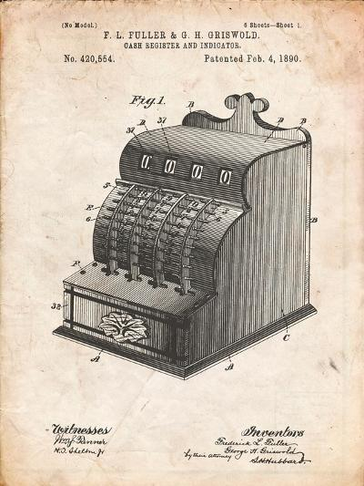Cash Register Patent-Cole Borders-Art Print