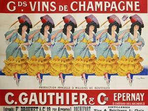 Gds Vins de Champagne, circa 1910 by Casimir Brau