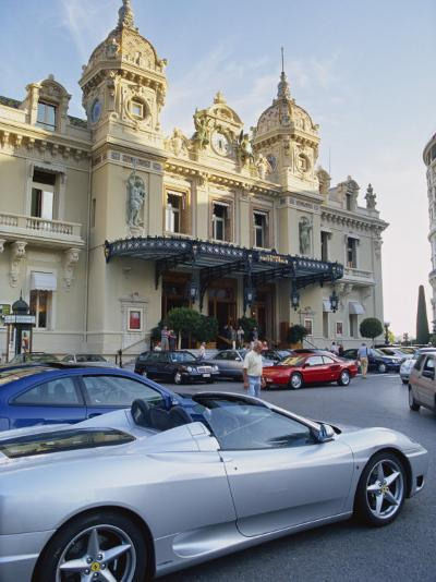 Casino and Ferrari, Monte Carlo, Monaco, Europe-Miller John-Photographic Print