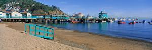 Casino Building and Avalon Harbor, Avalon, Catalina Island, California