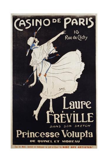 Casino De Paris Laure Freville Poster--Premium Giclee Print