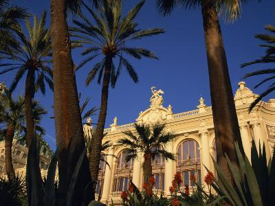 Casino Framed by Flowers and Palm Trees in Monte Carlo, Monaco, Europe-Tomlinson Ruth-Photographic Print