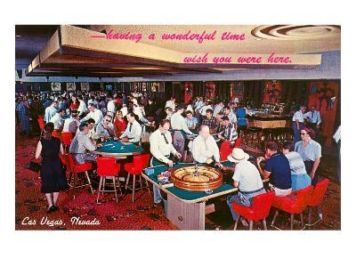 Casino Scene in Las Vegas, Nevada--Art Print