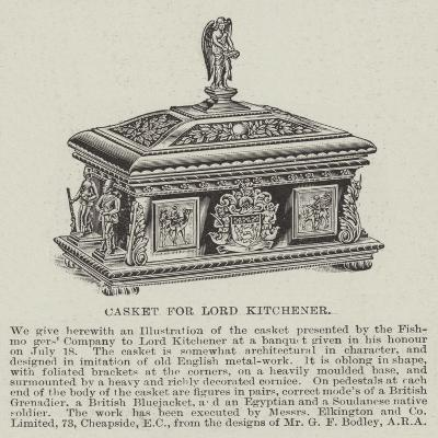 Casket for Lord Kitchener--Giclee Print