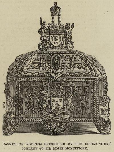 Casket of Address Presented by the Fishmongers' Company to Sir Moses Montefiore--Giclee Print