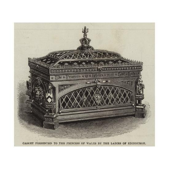 Casket Presented to the Princess of Wales by the Ladies of Edinburgh--Giclee Print