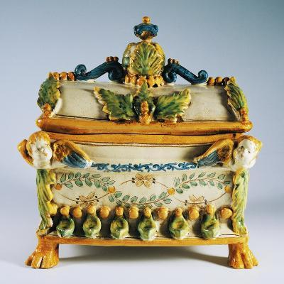 Casket with Renaissance Style Decorations--Giclee Print