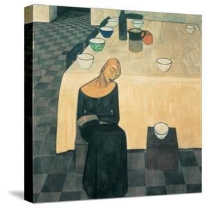A Woman (the Wait) by Casorati Felice