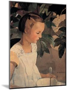 Child with a Bowl by Casorati Felice
