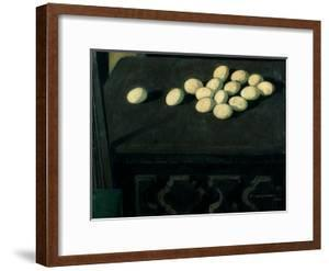 Eggs on a Chest of Drawers by Casorati Felice