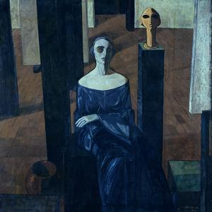 Portrait of Maria Anna De Lisi by Casorati Felice