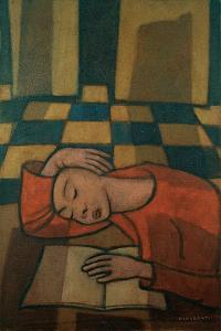 Sleeping Girl by Casorati Felice