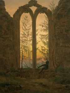A Dreamer by Caspar David Friedrich