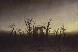 Abbey Among Oak Trees, Ca 1809 by Caspar David Friedrich