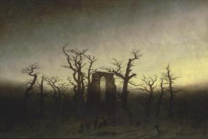 Abbey in the Oak Forest by Caspar David Friedrich
