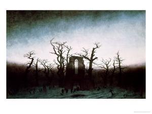 Abbey in the Oakwood, 1810 by Caspar David Friedrich