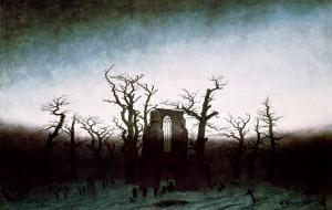 Abbey in the Oakwood, 1810 by Caspar David Friedrich