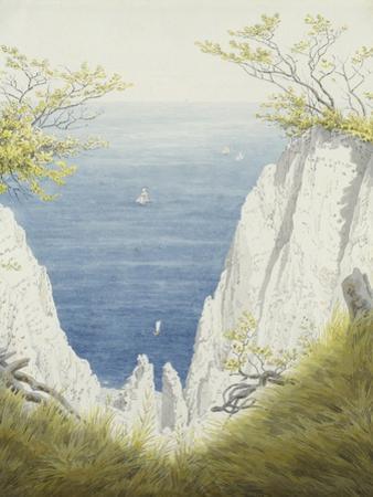 Chalk Cliffs on Rugen, 1825-26 by Caspar David Friedrich
