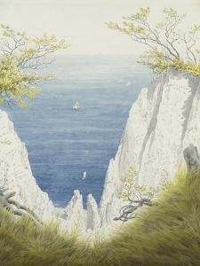 Chalk Cliffs on Rugen, 1825-26 by Caspar David Friedrich