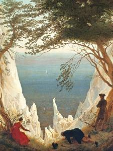 Chalk Cliffs on Rugen, C.1818 by Caspar David Friedrich