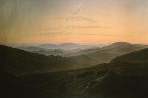 Dawn by Caspar David Friedrich