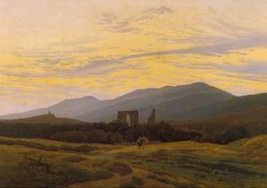 Die Ruine Eldena Im Riesengebirge, 1830/1834 by Caspar David Friedrich