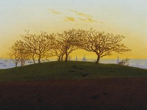 Hills and Ploughed Fields Near Dresden, about 1824 by Caspar David Friedrich