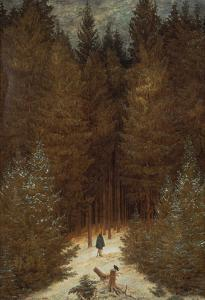 Hunter in the Forest, about 1813/1814 by Caspar David Friedrich