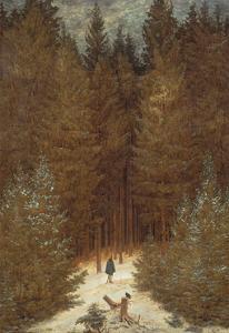Hunter in the Forest, C.1814 by Caspar David Friedrich