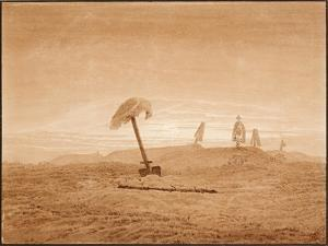 Landscape with Graves, Ca 1836 by Caspar David Friedrich
