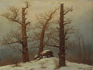 Megalithic Grave in the Snow by Caspar David Friedrich