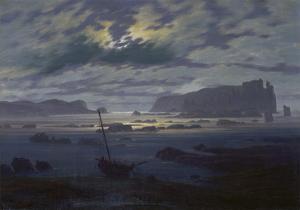 Moonlit Seascape by Caspar David Friedrich