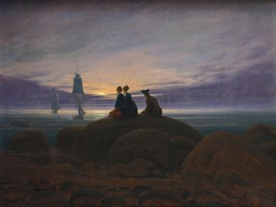 Moonrise over the Sea, 1822 by Caspar David Friedrich