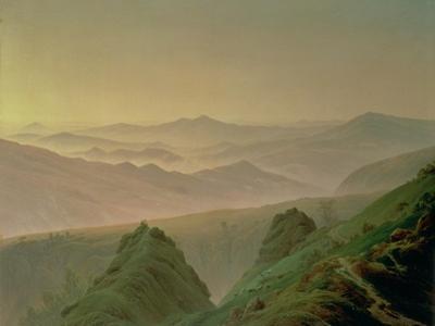 Morning in the Mountains by Caspar David Friedrich