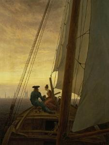 On Board a Sailing Ship, 1819 by Caspar David Friedrich
