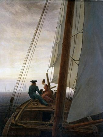 On Board a Sailing Ship, Between 1818 and 1820 by Caspar David Friedrich