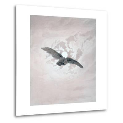 Owl Flying Against a Moonlit Sky