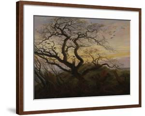 Ravens in a Tree (Bare Tree at the Coast of Ruegen, Or: Rookery on the Island Ruegen), about 1822 by Caspar David Friedrich