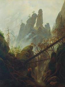 Rocky Gorge, 1822/23 by Caspar David Friedrich